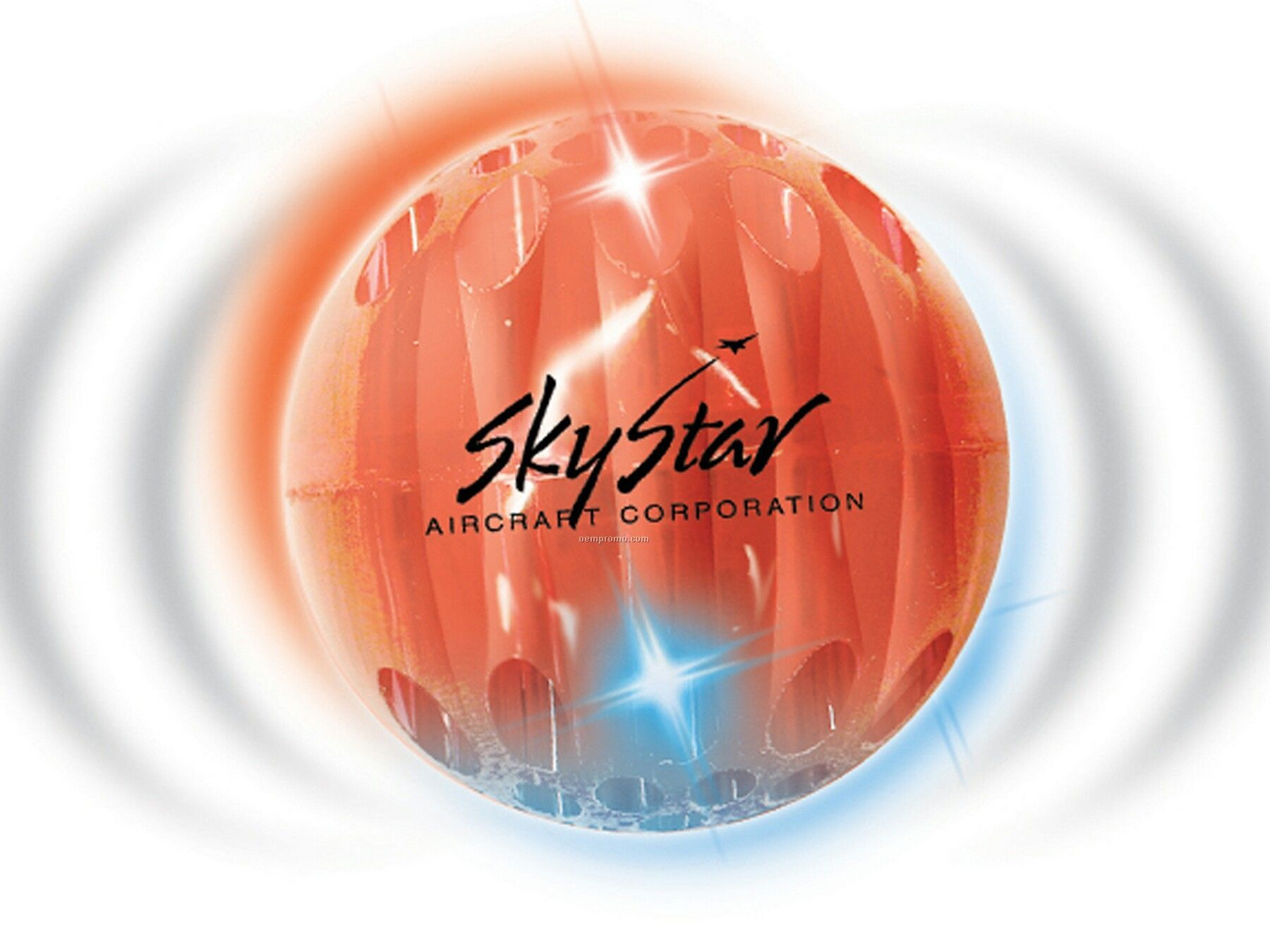 Airglow Buzball With Sound (Translucent Red)