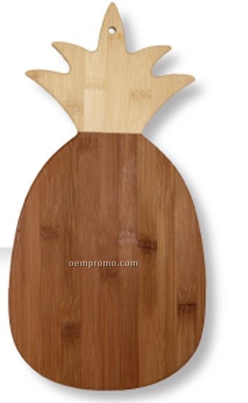 Bamboo 2-tone Pineapple Cutting Board