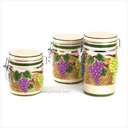 similiar grape canister set keywords