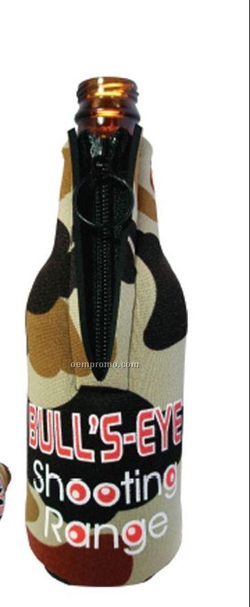 Neoprene Zipper Bottle Holder - Camo