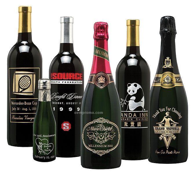 Premium California Chardonnay Wine (Etched W/ 2 Colors)