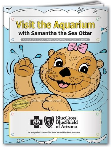 Fun Pack Color Book W/ Crayons - Visit The Aquarium With Samantha Sea Otter