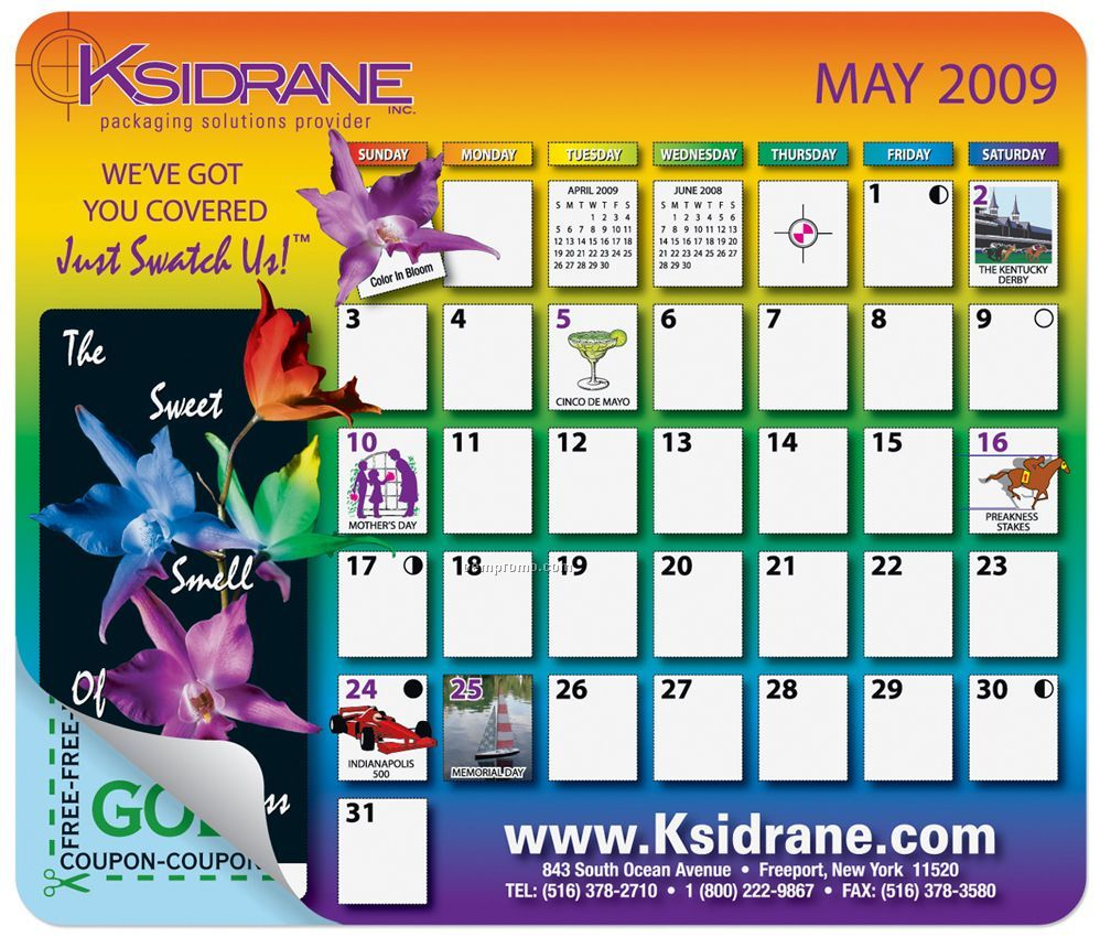 Mousepaper Calendar 18-month Paper Mouse Pad