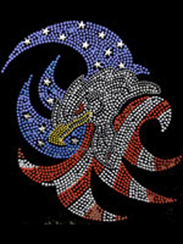 Patriotic Eagle Rhinestone Transfer
