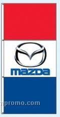 Single Face Dealer Free Flying Drape Flags - Mazda