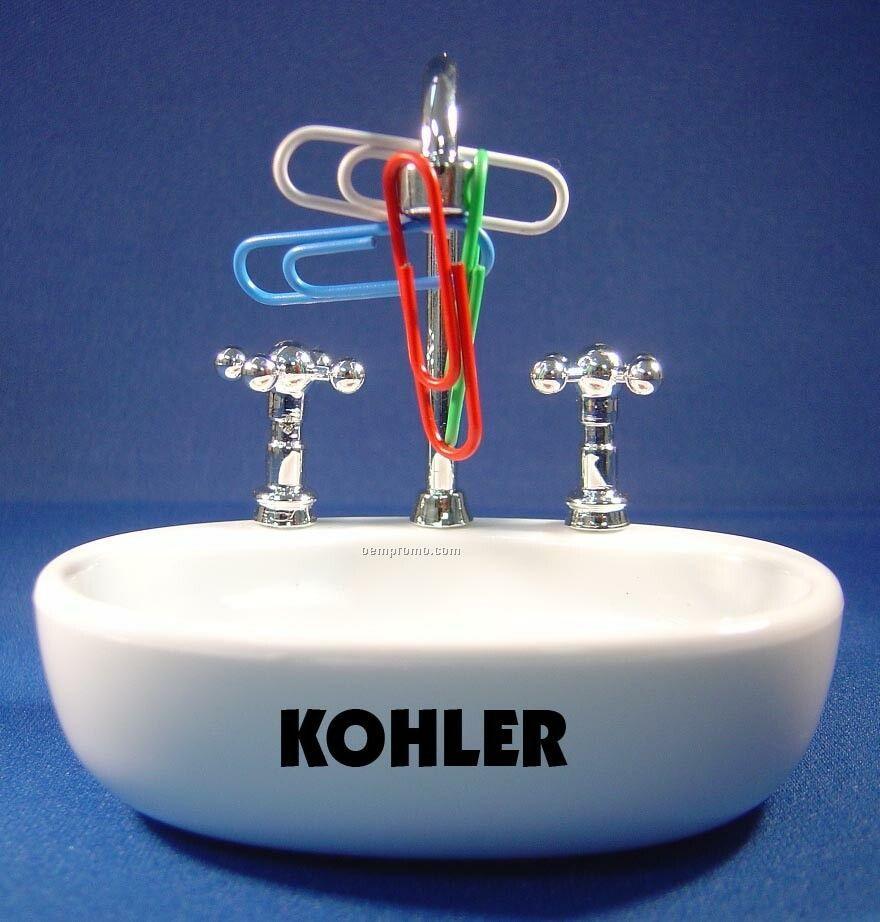 Sink Paper Clip Holder