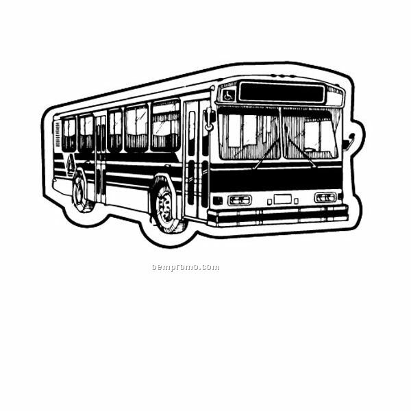 Stock Shape City/ Metro Bus Recycled Magnet