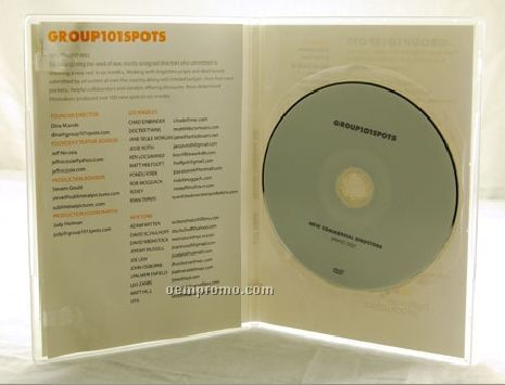 DVD Replication Retail In Clear Slim Amaray Case 4 Panel 4/1 Insert (DVD 9)