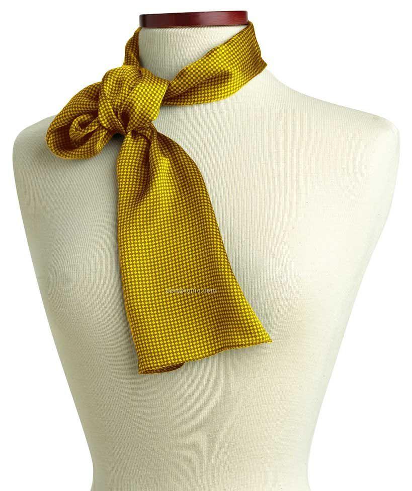"Wolfmark Carlton Silk Scarf - Yellow (21""X21"")"