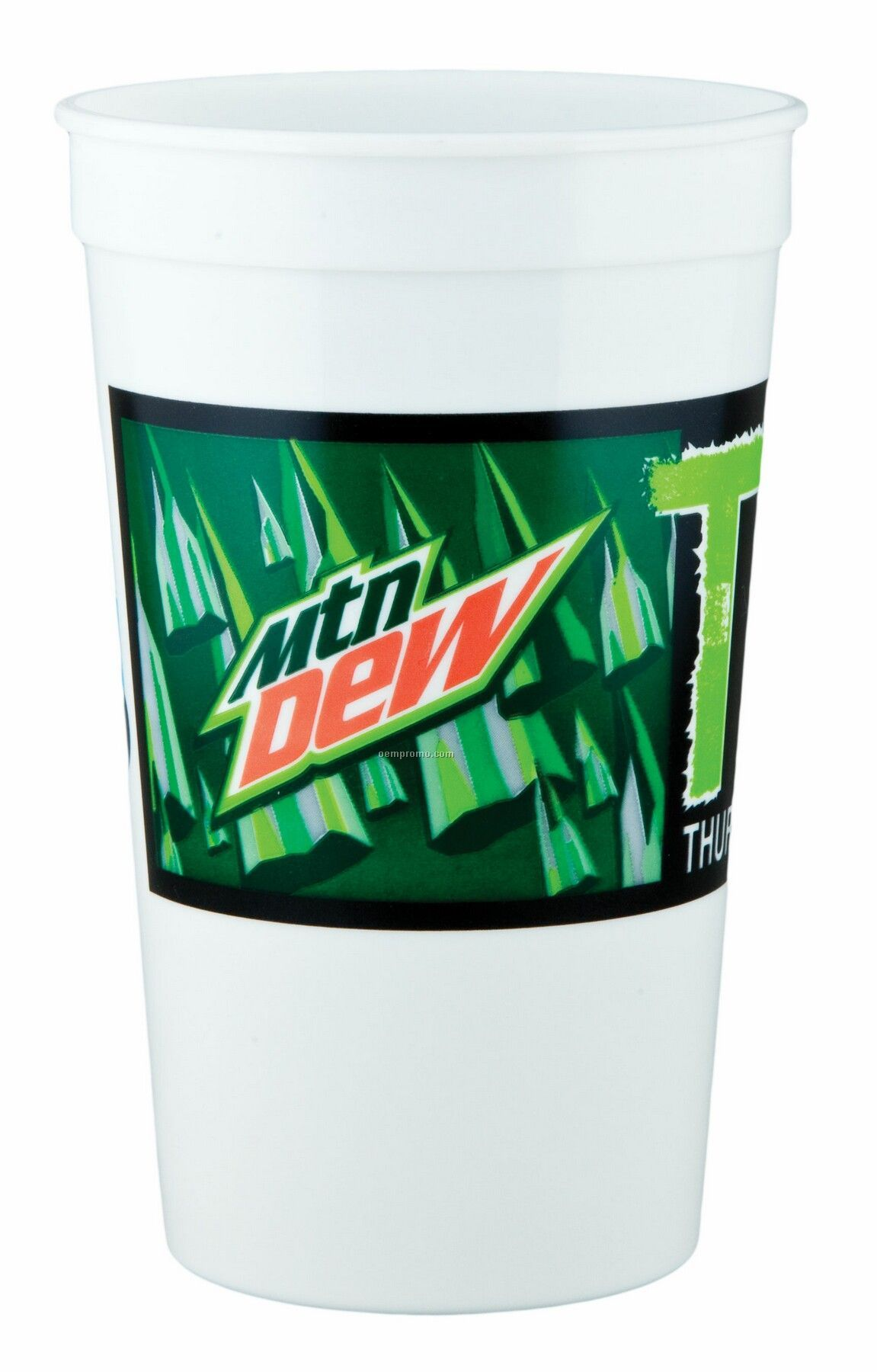 32 Oz. Offset Smooth Plastic Stadium Cup