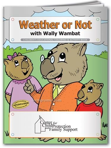Action Pack Color Book W/Crayons & Sleeve- Weather Or Not With Wally Wambat