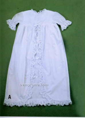 Baby Boutross Cotton Christening Dress Set With Brussels