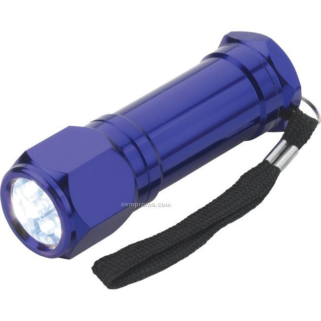 Blue 8 LED Flashlight