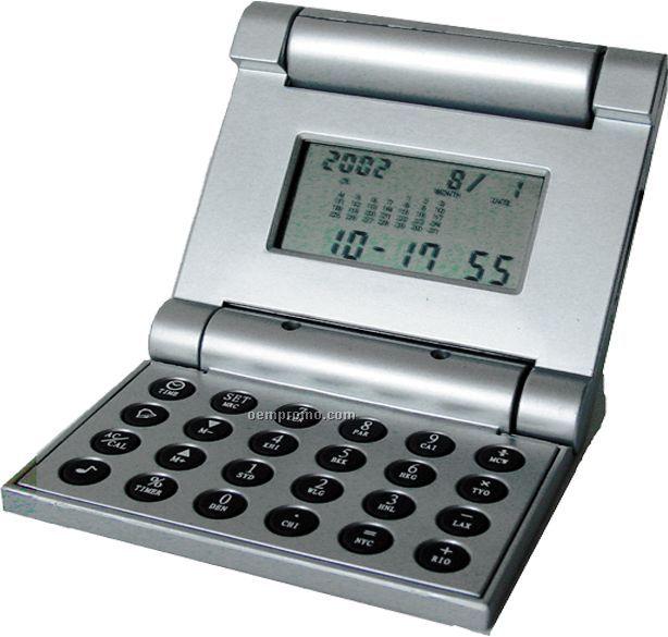 Robotic Flip Top Cover World Time Calculator