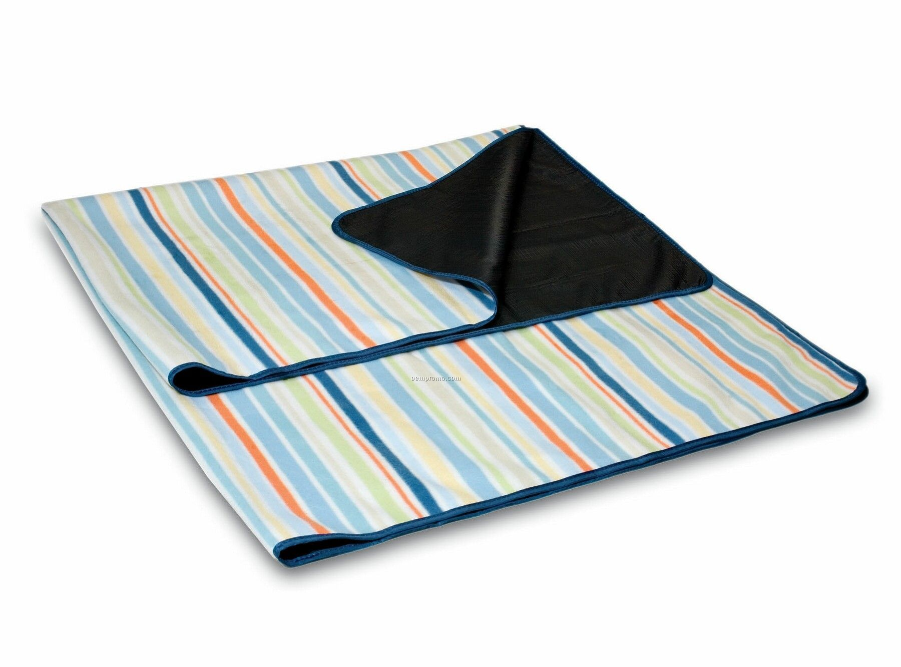 St. Tropez Aqua Striped Blanket Tote