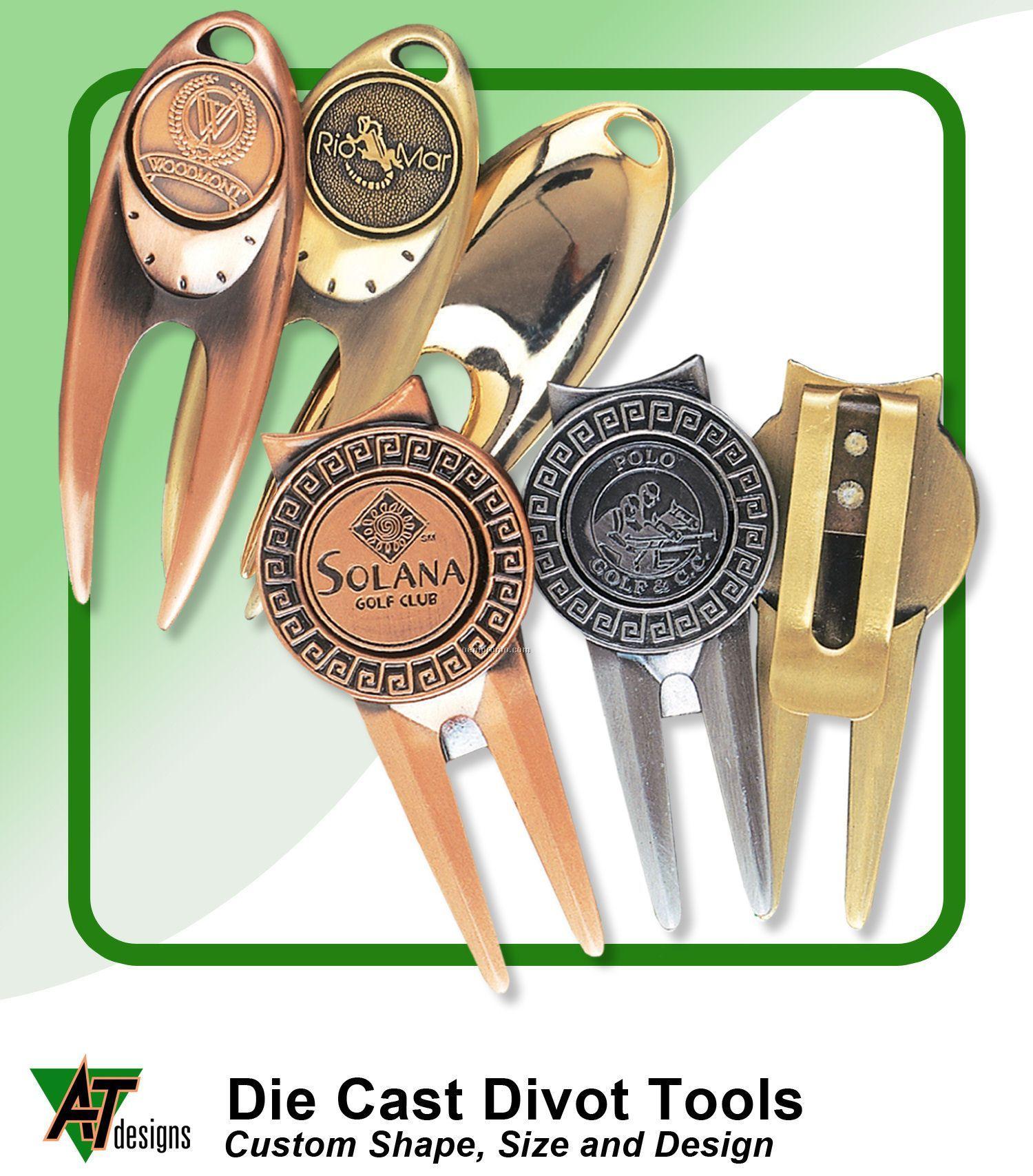 Custom Hand Finished Zinc Divot Tool