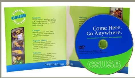 DVD Replication In 4-panel Wallet Sleeve