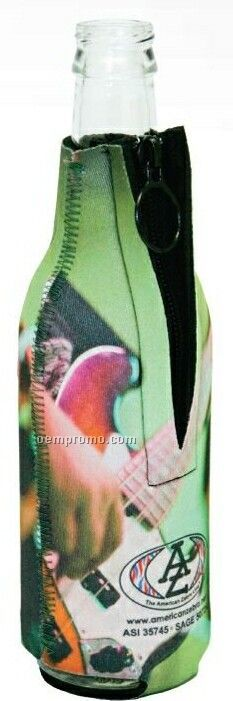 Neoprene Zipper Bottle Holder - Zebra