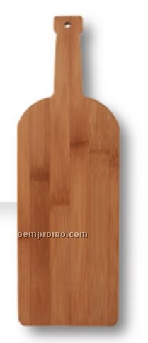 Small Wine Bottle Bamboo Cutting Board