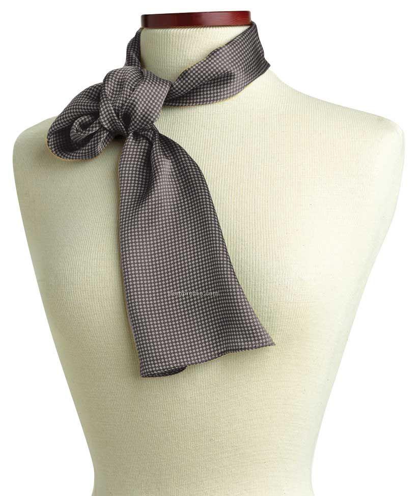 "Wolfmark Carlton Silk Scarf - Gray (45""X8"")"