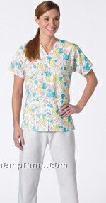 Women's Gripper Front Tunic Scrub Top - Solid Color