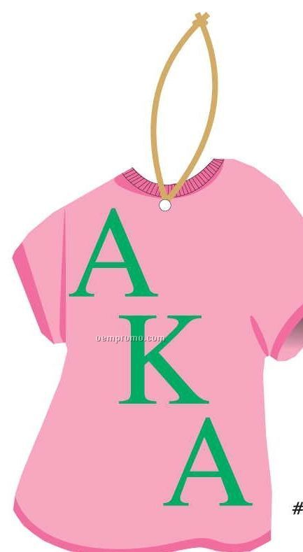 Alpha Kappa Alpha Sorority T-shirt Ornament W/ Mirror Back (6 Square Inch)