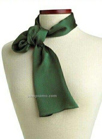 "Wolfmark Carlton Silk Scarf - Green (45""X8"")"