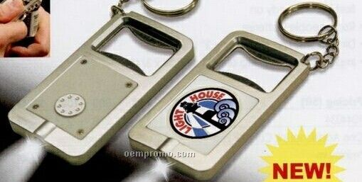 Bottle Opener Flashlight Keychain