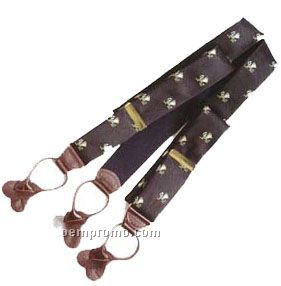Customized Woven Poly-silk Suspenders