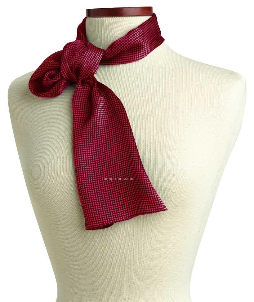 "Wolfmark Carlton Silk Scarf - Pink (45""X8"")"