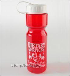 28 Oz. Transparent Travel Bottle W/Tethered Lid