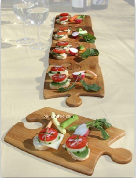 Puzzle Pizza Party Platters (Set Of 2)