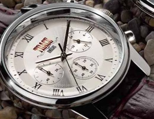 Unisex Sport Silver Dial Watch W/ Japanese Chronograph Movement