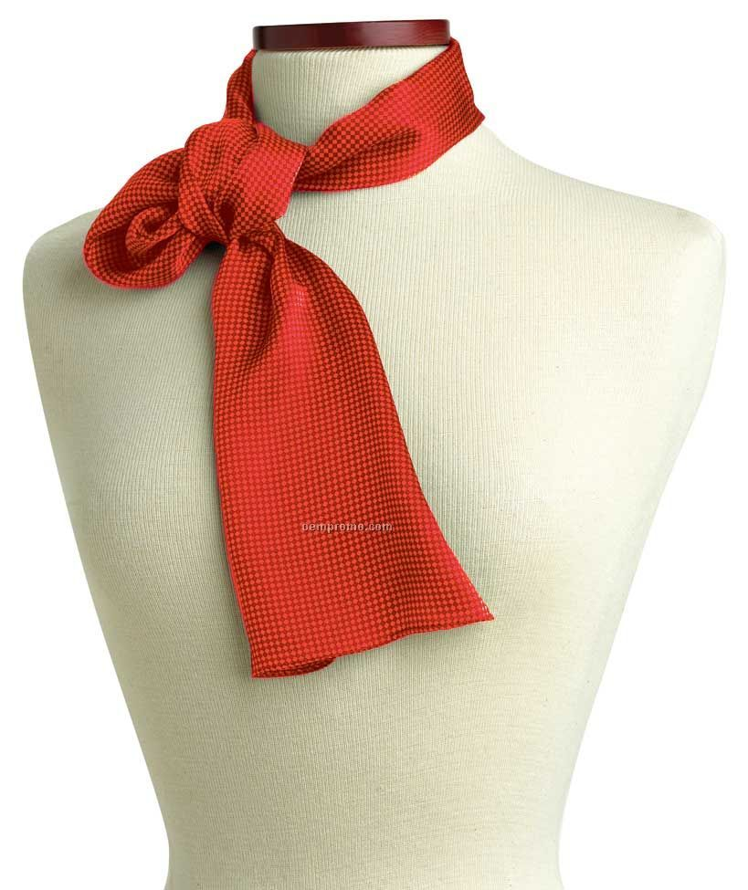 "Wolfmark Carlton Silk Scarf - Red (45""X8"")"