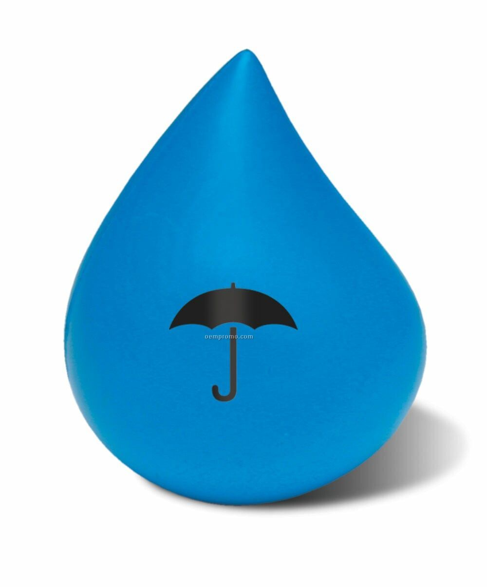 Blue Water Drop Squeeze Toy