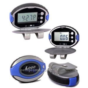 Pedometer With Clock