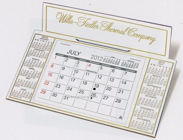 The Dominique Warwick Premier Desk Calendar (January - April)