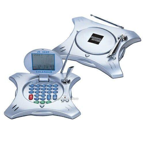 Unique Modern Shaped Desktop World Time Calculator / Radio