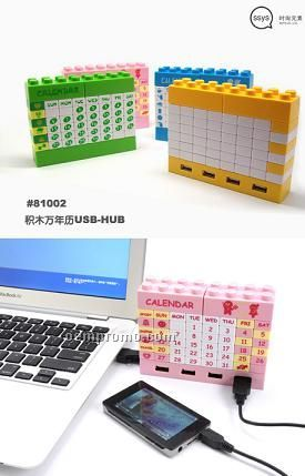 Building Block Calendar / USB Hub