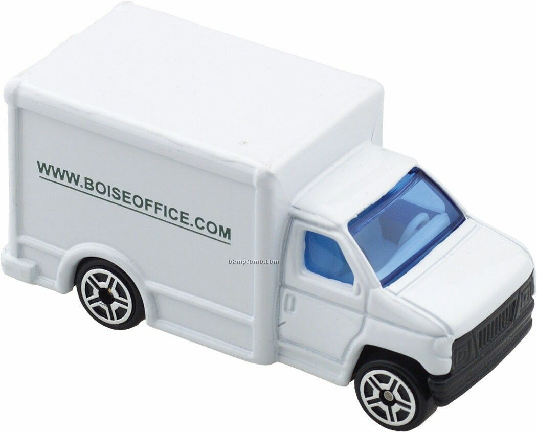 Die Cast White Delivery Truck
