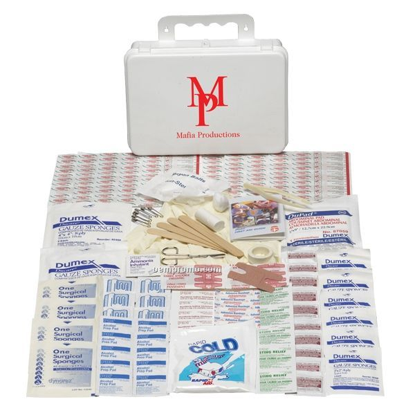 Home/ Office First Aid Kit W/ Plastic Case