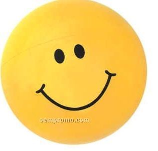 Inflatable Yellow Smiley Face Beach Ball