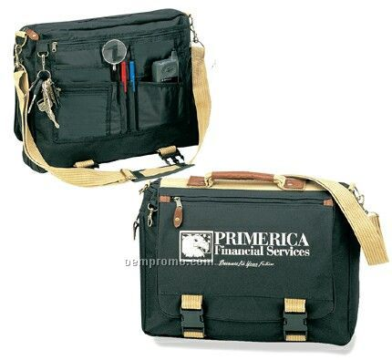 Two-tone Deluxe Expandable Briefcase