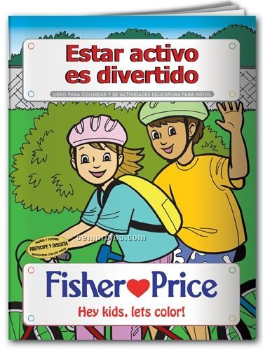 Spanish Coloring Book - Fitness Is Fun