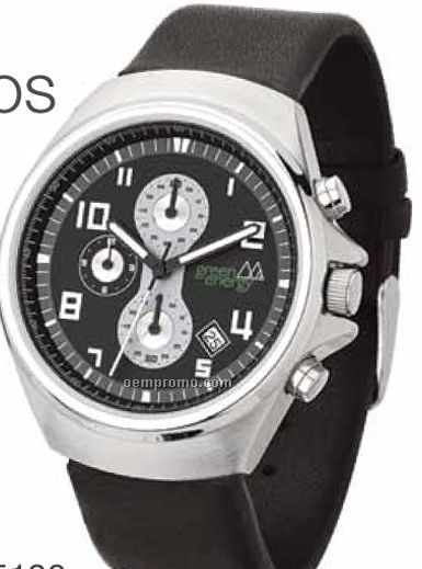 Unisex Japanese Chronograph Movement Watch W/ 3 Sub Dials