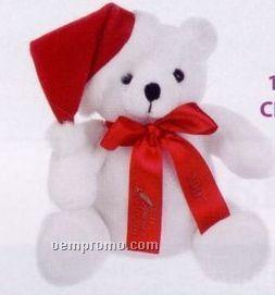 White Stock Christmas Bear Stuffed Animal