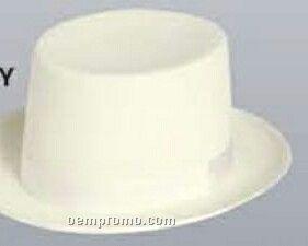 Wool Felt Top Hat W/ Grosgrain Band
