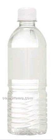 16.9 Oz. Clear Water Bottle W/Twist Off Cap