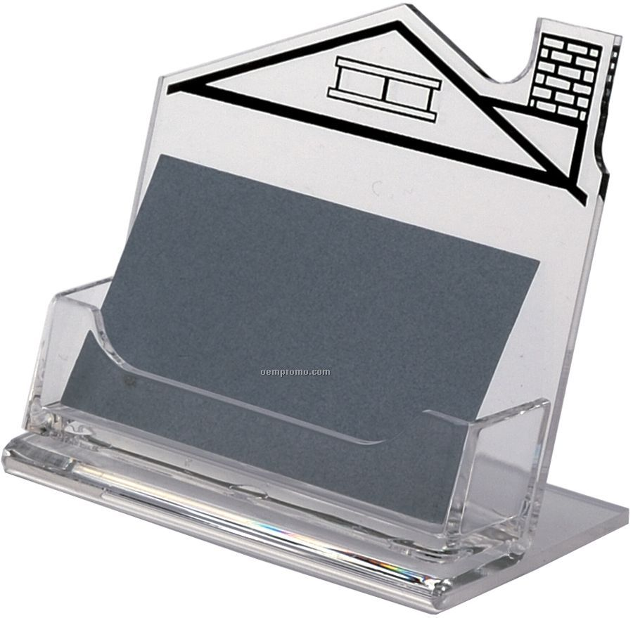 Horizontal Business Card Holder With Left Chimney House Imprint ...