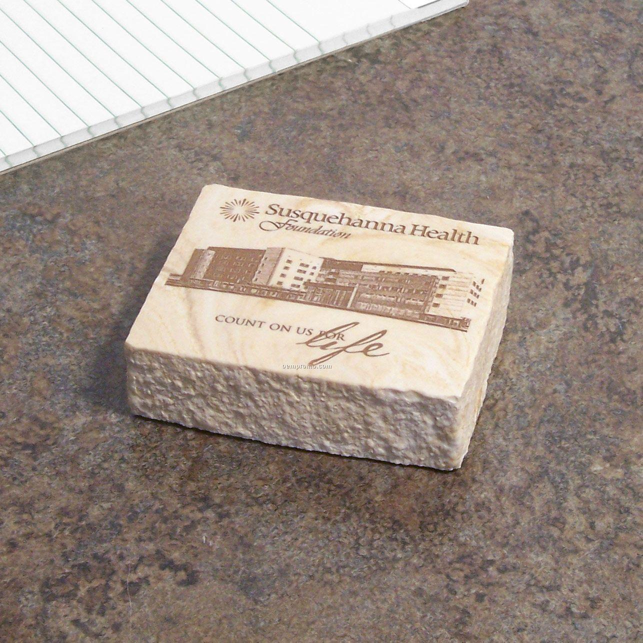 Limestone Brick Paperweight